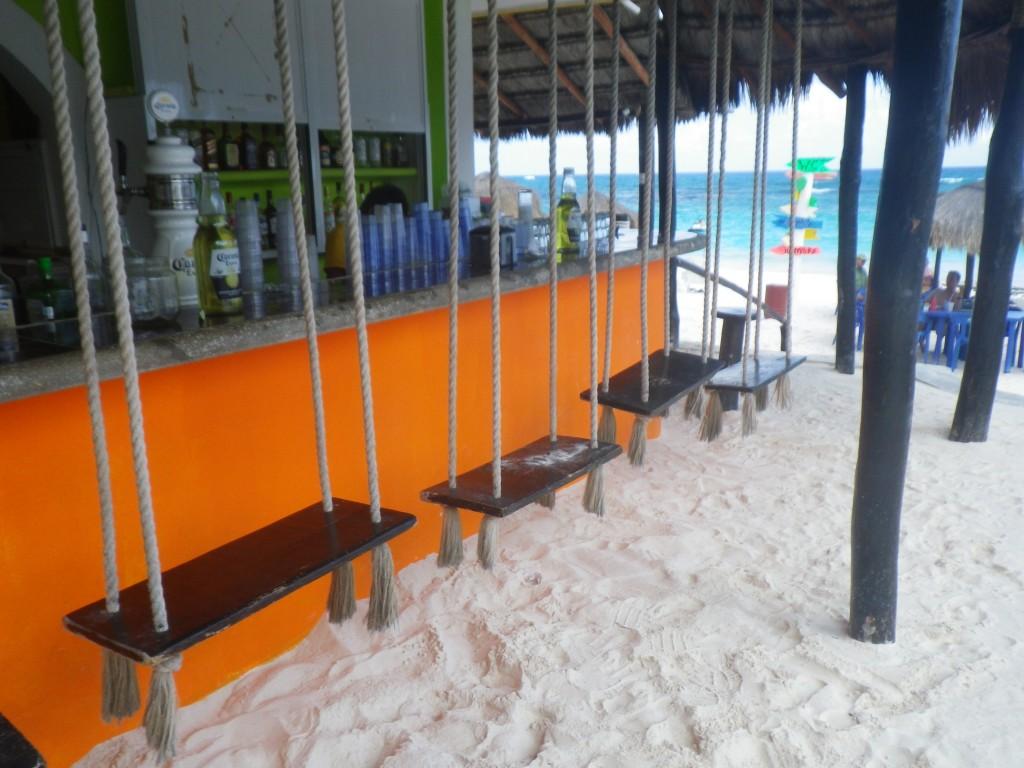 Mexican beach bar, Yucatan, Riviera Maya